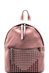 Silver-tone Studded Bling Backpack
