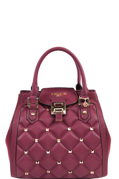 Nicole Lee Studded Quilted Satchel Bag