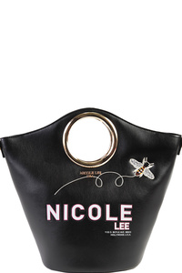 NICOLE LEE COLOR BLOCK HANDBAG