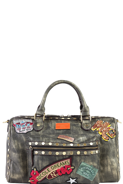 NICOLE LEE CHROME BOSTON BAG