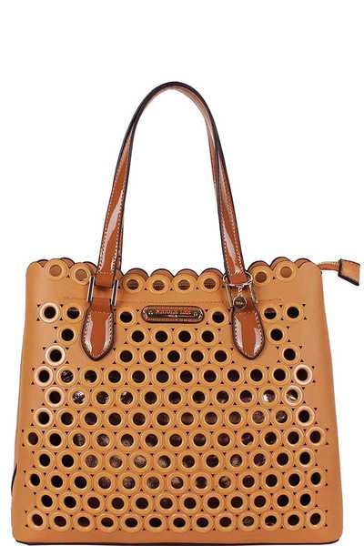Nicole Lee Ring Studded Satchel Bag