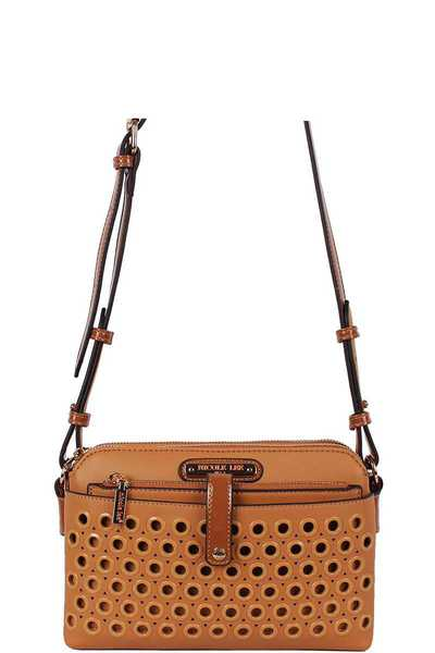 Nicole Lee Ring Studded Crossbody Bag