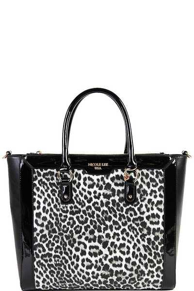 Nicole Lee ANIMAL PRINT TOTE BAG
