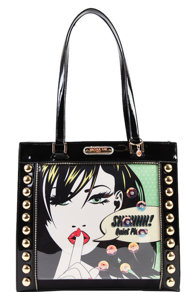 NICOLE LEE METALLIC TOTE BAG