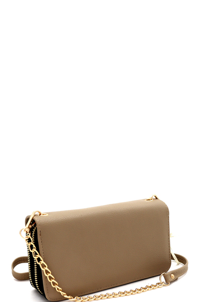Double Zip-Around Wallet Cross Body