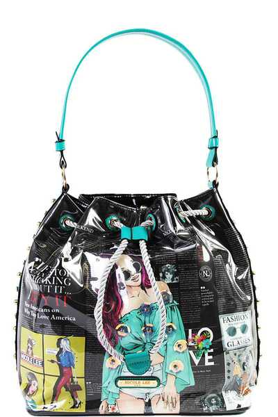 Nicole Lee URBAN CHIC BUCKET BAG