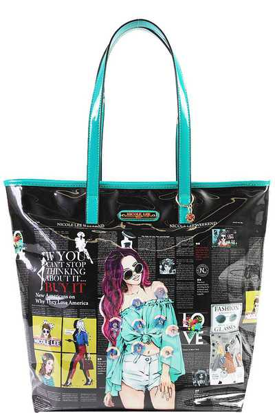 Nicole Lee URBAN CHIC SHOPPER BAG