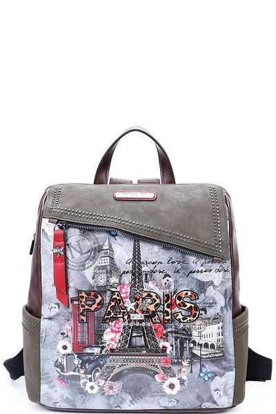 Nicole Lee PARIS IN FALL BACKPACK