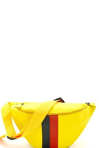 Color Block Striped Nylon Fashion Fanny Pack