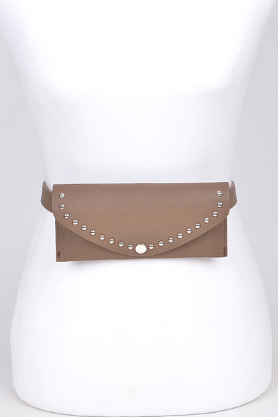 Classic With Hole Chain Detail Fanny Pack