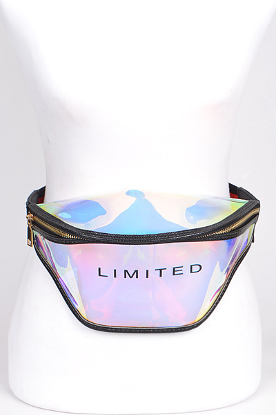 Limited Written Clear Fanny Pack