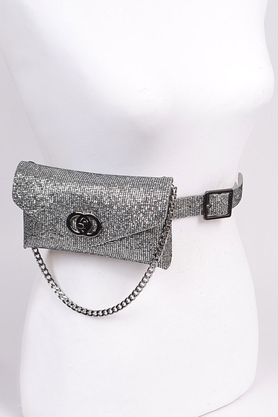 Sequin Chain Embellished Fanny Pack