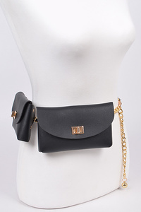 Chain Belt With Two Pouches