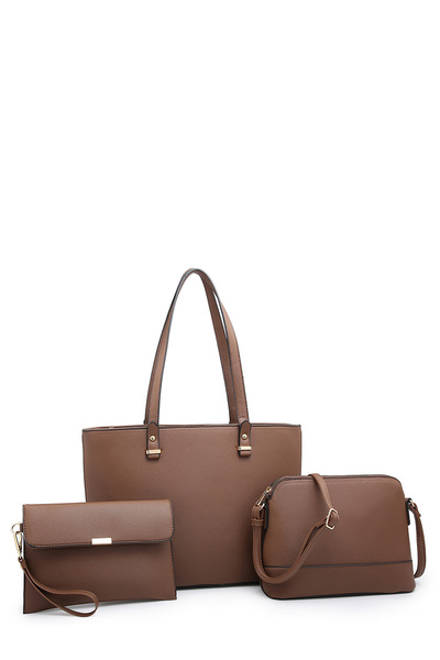 Saffiano Textured 3-in-1 Shopper
