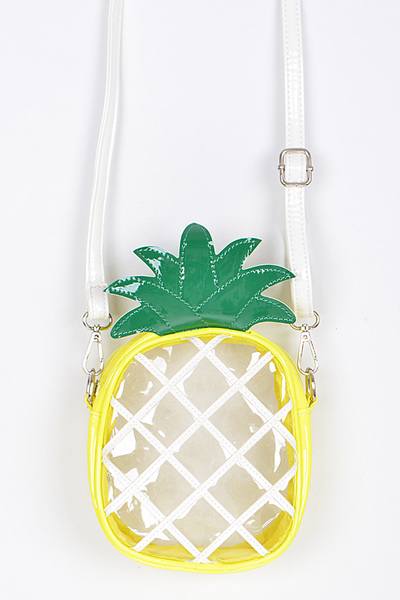 Clear Pineapple Clutch.