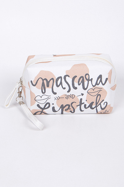 Mascara & Lipstick Cosmetic Pouch