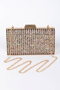 Party Time Clutch With Chain Details
