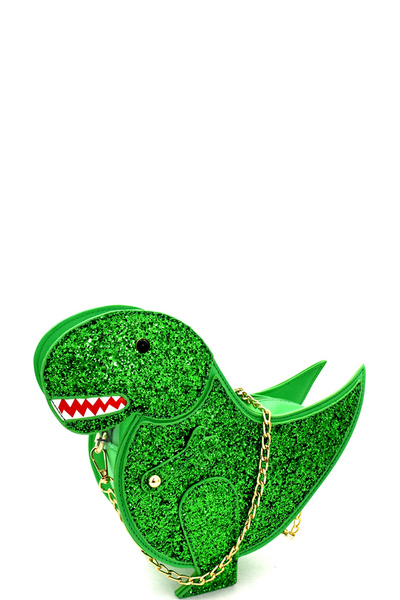 Glittery Dinosaur Theme Novelty Cross Body