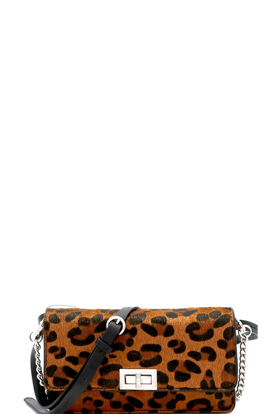 Leopard Print 2-Way Fanny Pack Cross Body