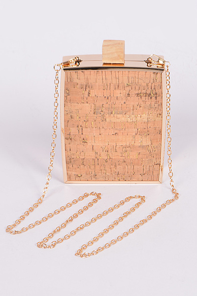 Reflective Cork Clutch Bag