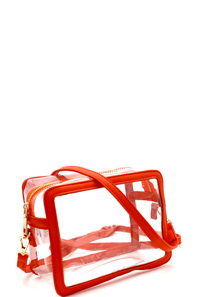 Transparent Clear Boxy Shoulder Bag