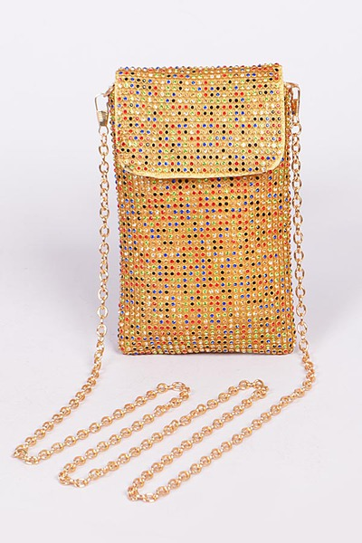 Mini Rhinestone Mini Rectangular Clutch