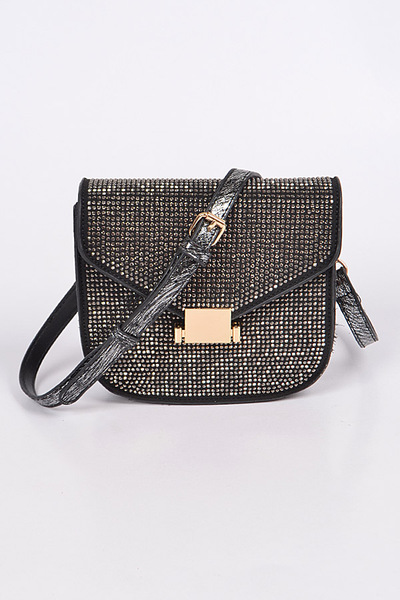 Mini Studded Rhinestone Clutch