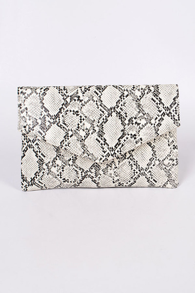 Snakeskin Mini Clutch