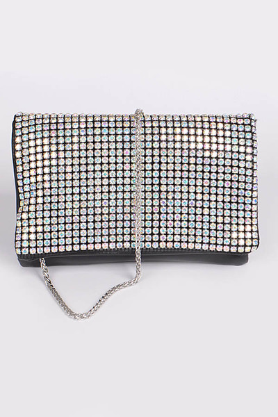 Shiny Rhinestone Clutch