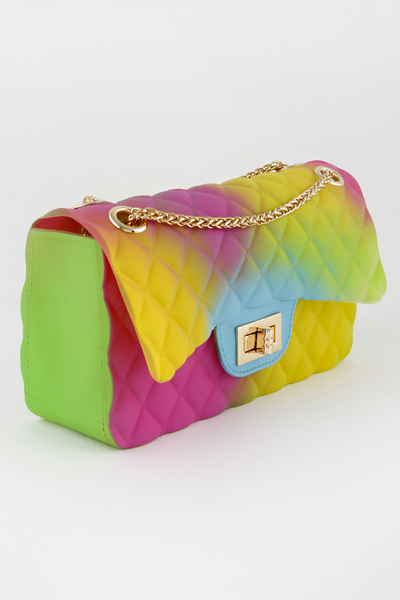 Soft Pvc Square Crossbody Clutch