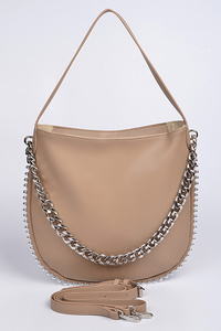 Chain Strap With Shoulder Clutch