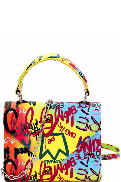 Graffiti Small Top-Handle Satchel Cross Body