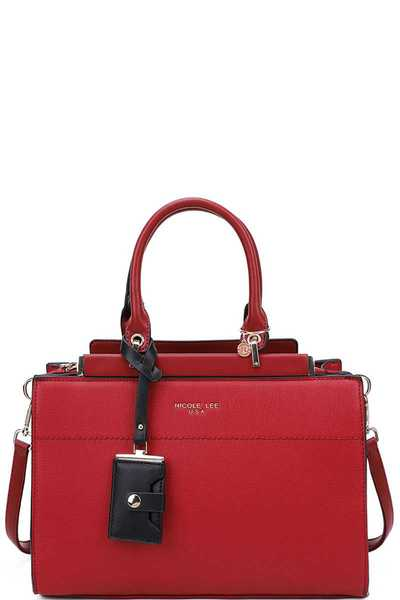 Nicole Lee DESIGNER CLASSY SATCHEL WITH LONG STRAP