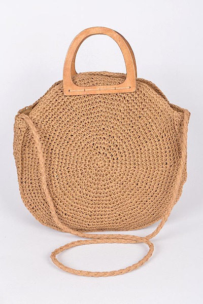 Rounded Tote Clutch