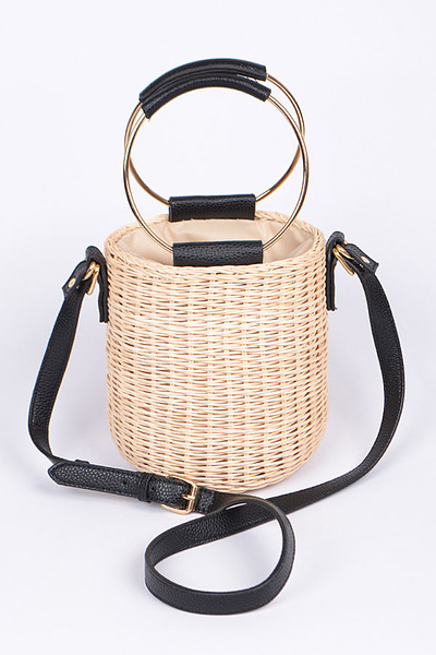 Braided Bucket Bag Fashion Clutch