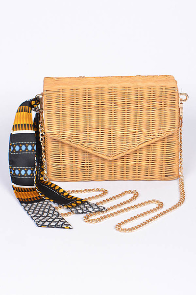 Envelop Braided Clutch