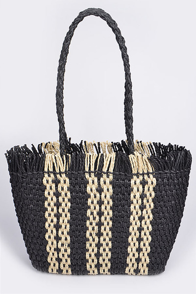 Whole Straw Tote Bag