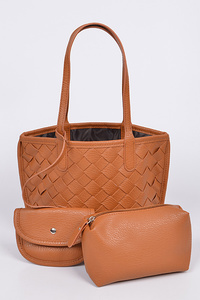 Woven Handbags With Pouches