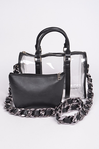 Bulk Leather Chain Crossbody Bag