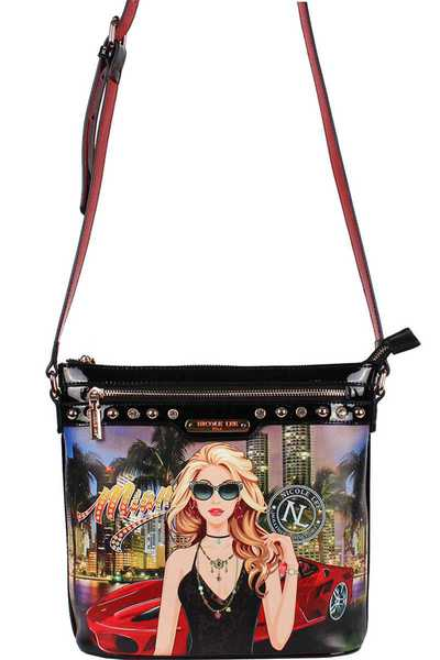 Nicole Lee Fashion Print Crossbody Bag