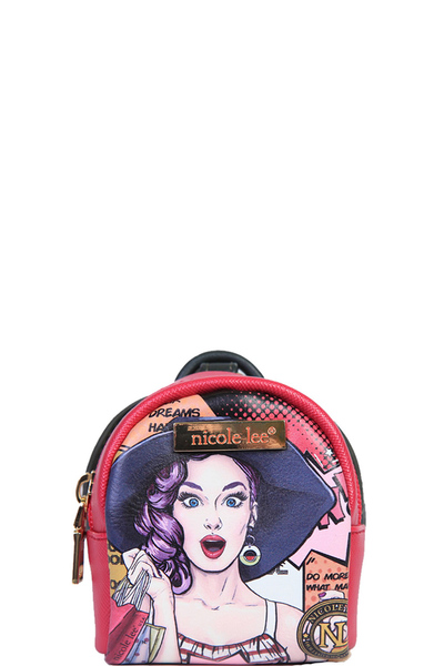 NICOLE LEE TEVY KEYCHAIN MINI BACKPACK COLLECTION