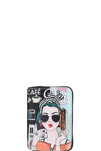 Nicole Lee FASHION PRINT SMALL CARD WALLET
