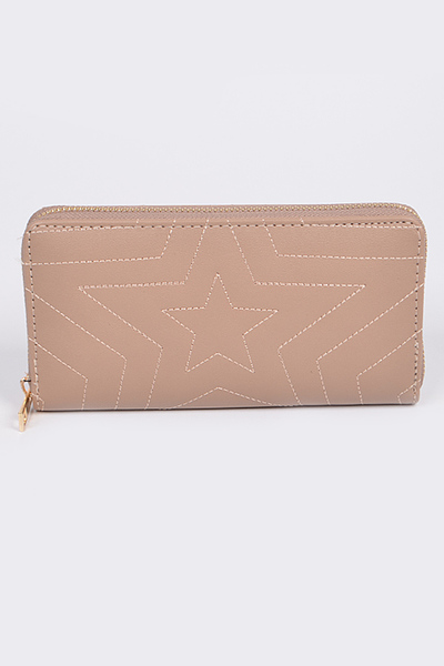 Star Quilted Long Wallet