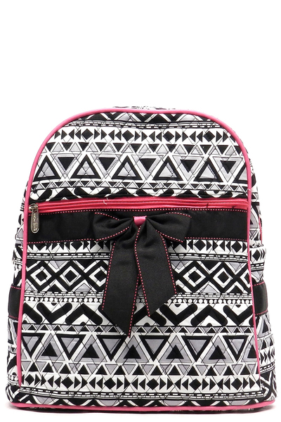 Quilted Aztec Print Backpack