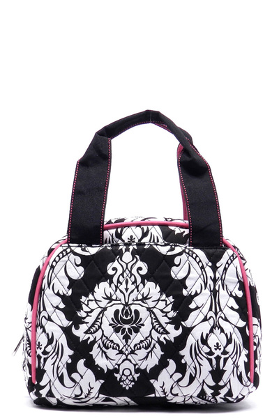 Quilted Paisley Print Lunch Bag