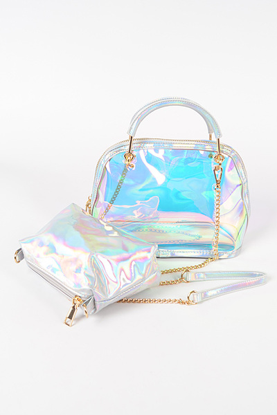 Clear Bag W/metal Handle