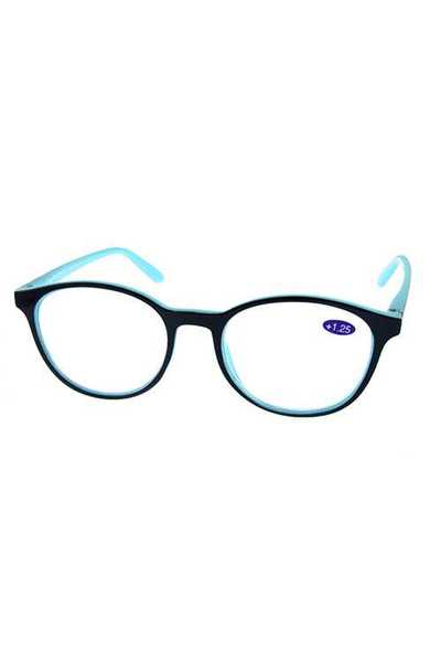 Fully rimmed rounded plastic Reading Glasses