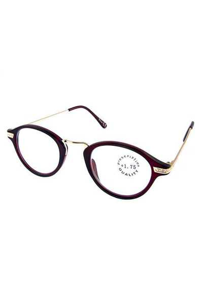 metal blended rounded style reading glasses