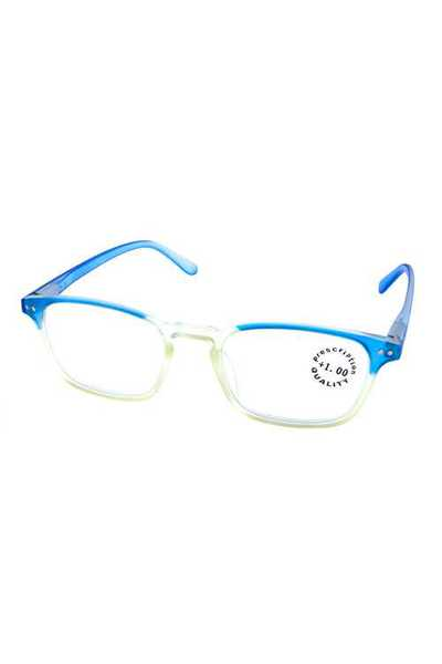 Simple square plastic reading glasses