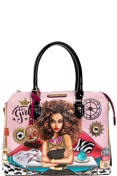 "NICOLE LEE ""SUPER ROXAN"" SATCHEL BAG"